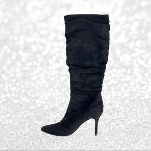 Limelight Suede Slouchy Heeled Boots